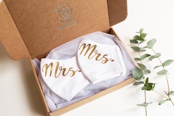 Huwelijk mondmaskers