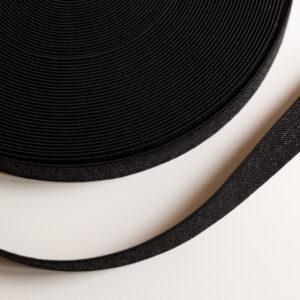 zwart glitter elastiek 25mm