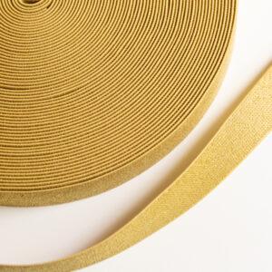 goud glitter elastiek 25mm