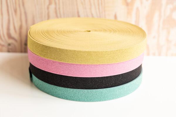 Glitter elastiek 25mm