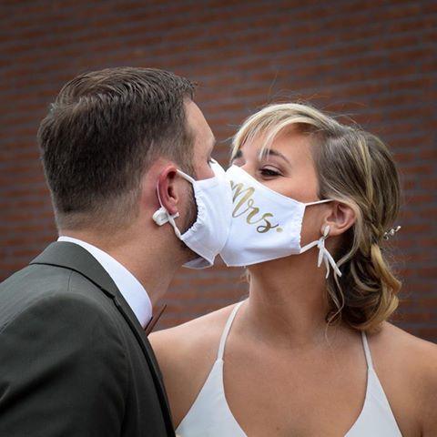 Huwelijksmondmaskers