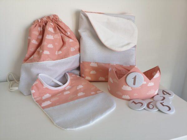 geboortepakket roze wolken